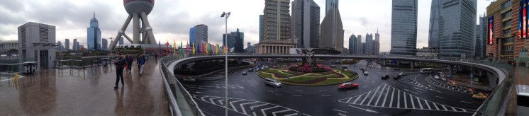 There's a really neat circular walkway near the Pearl Tower that gives you a cool 360-degree view of downtown.