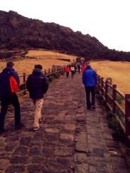 Walking to the top of Sunrise Peak