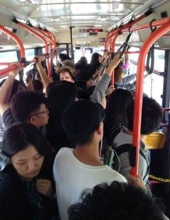 And no visit in Korea is complete without a crowded bus ride.
