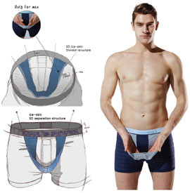 Men's-functional-underwear-with-ice-skin-3D-separation-structure