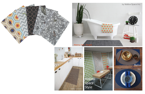 New-Material,-Green-PVC-Woven-Fabric-Table-Mat,-Doormat,-Note,-Card-Holder-&-Home-Deco-Blind