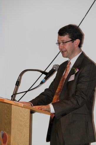 Presenter Philip Gowman of London Korean Links
