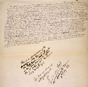One of Ford Madox Ford's manuscript pages.