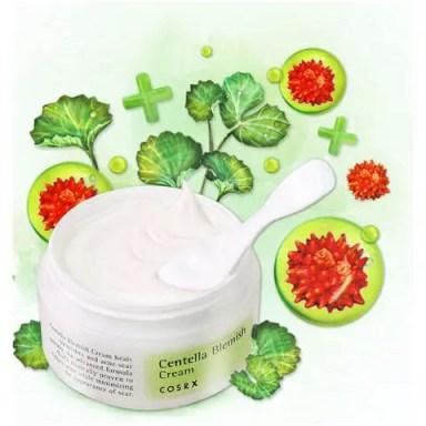 cosrx centella blemish cream skincare products for acne prone skin centella asiatica