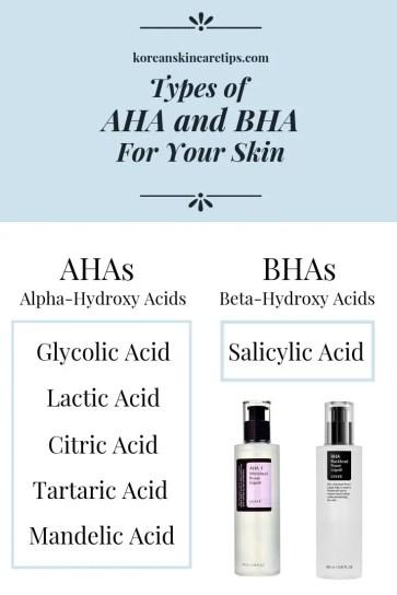 types of aha and bha glycolic acid vs salicylic acid lactic acid mandelic acid for acne chemical exfoliant types