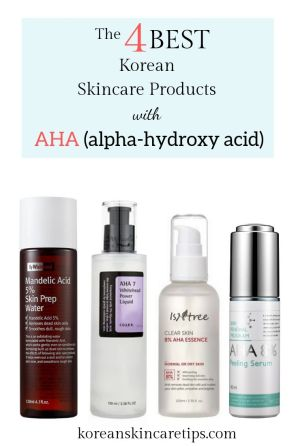 best korean skincare products with alpha hydroxy acids AHAs