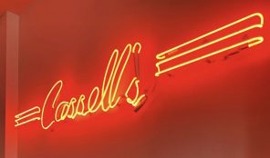 Cassell's red neon sign