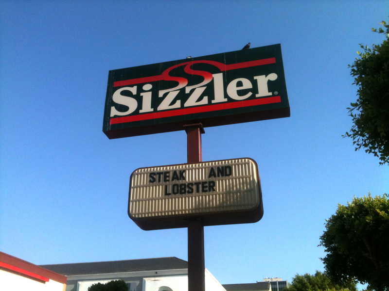 Sizzler: American Food Restaurant: Lobster, Steak
