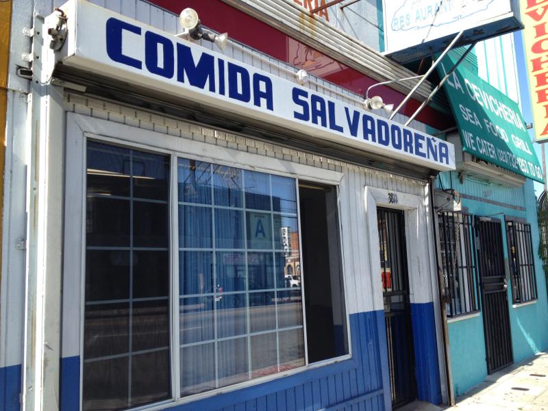 Salvadoran Restaurant on Pico in Koreatown LA