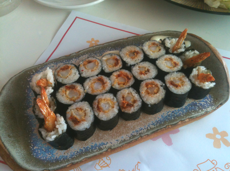 School Food Blooming Roll Shrimp Kimbap