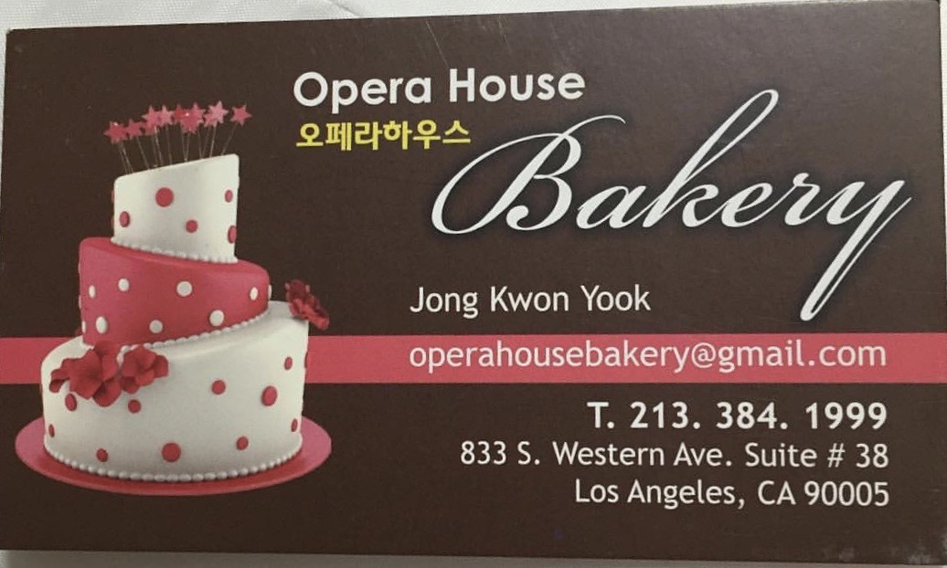Opera House Bakery in Los Angeles