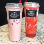 Strawberry Milk Tea and Cheese Smoothie