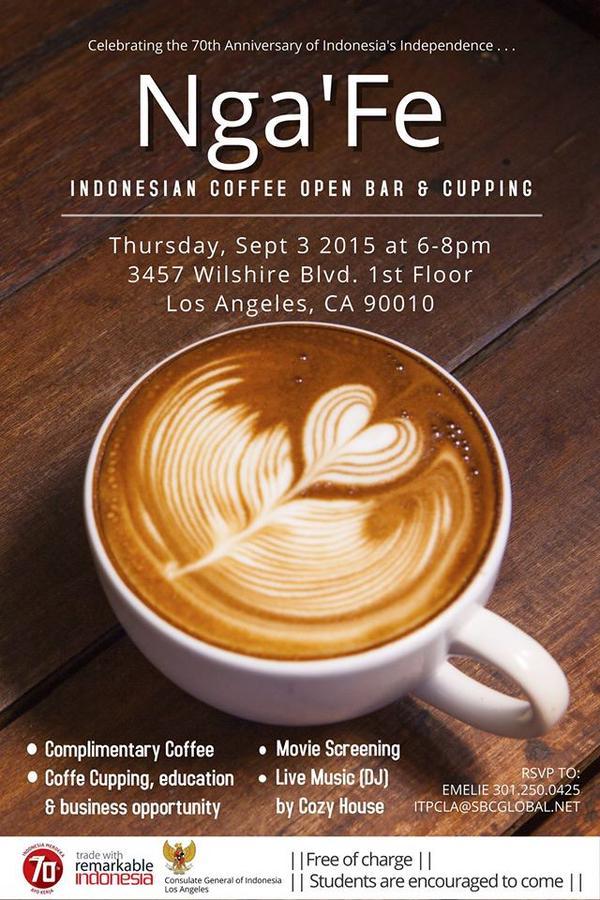 Nga'Fe: Indonesian Coffee Open Bar & Cupping