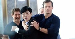 """Tom Cruise وممثلين """"Mission: Impossible"""" يفاجؤون أعضاء """"Running Man"""" بسبب نزعتهم التنافسية."""
