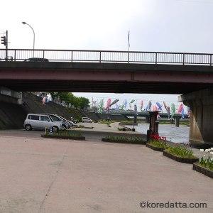 新潟 加茂川の鯉のぼり駐車場は混雑する?トイレや屋台はあるの?