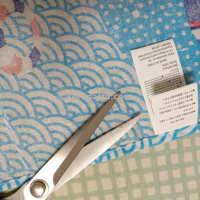ダイソー手ぬぐいズボン子供用の作り方。100均で簡単に型紙なしで完成!