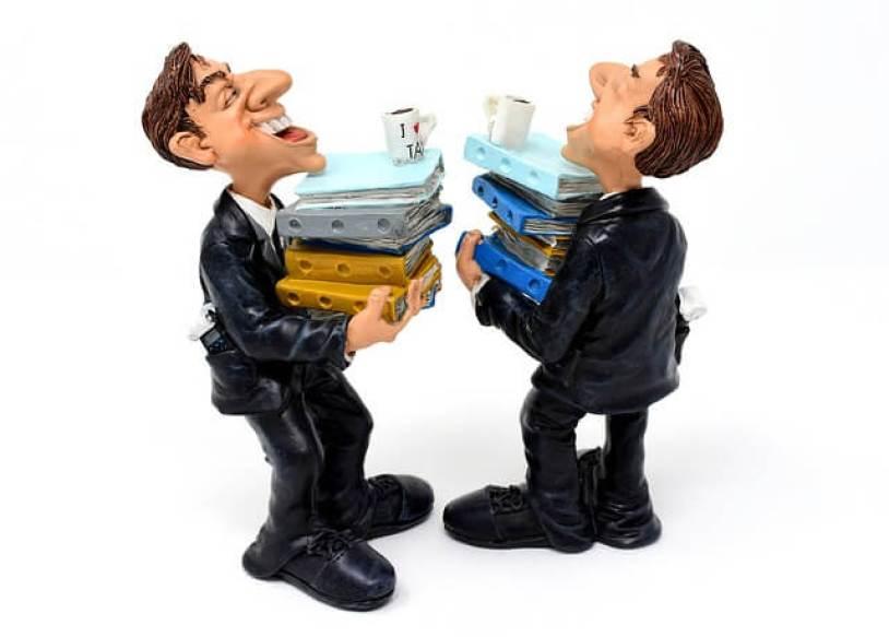 租税コンサルタント, ファイル, 積み重ねられたファイル