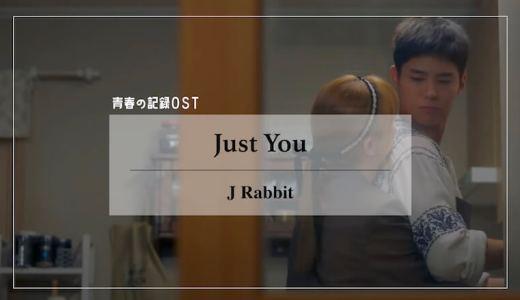 【日本語訳/歌詞/カナルビ】ドラマ青春の記録OST『Just You(너로 가득해)/J Rabbit』