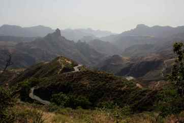 The mountainous interior of Gran Canaria Island, Canary Islands, Spain.