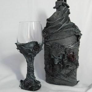 Powertex Bottle and Goblet