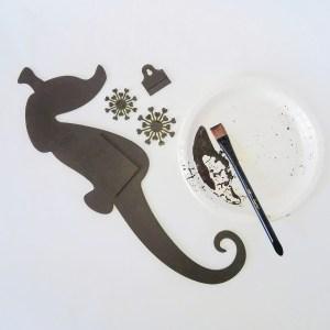 Powertex seahorse in bronze