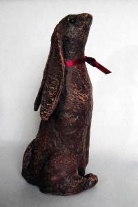 Powertex Stone Art clay hare sculpture