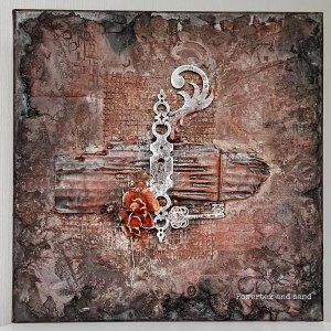 Choose Powertex canvas art like this textured art by Kore Sage