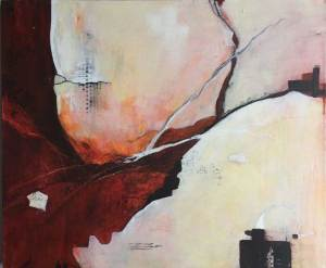 Fractured, Mixed media painting by Kore Sage Art