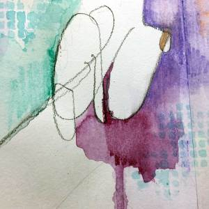 Sketchbook mark making