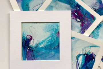 Mixed media art on paper by Kore Sage Art Curious Tales series