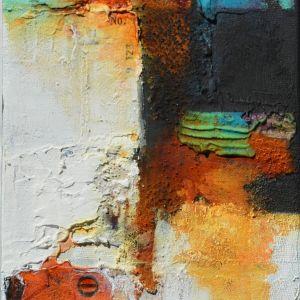 Textured Powertex art with acrylic colour