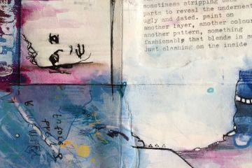 Handmade art journal spread by Kore Sage FEAT