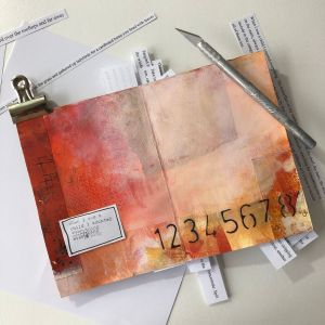 Handmade book and art journal August by Kore Sage