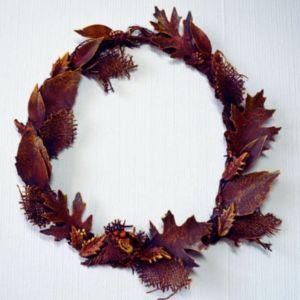 Powertex autumn seasonal wreath