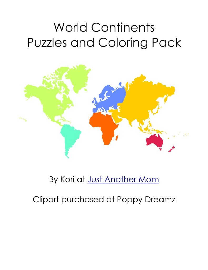continents puzzles and coloring pages