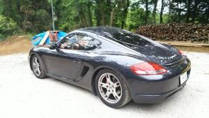 スポーツカーレンタカーオープン記念です。ポルシェ、ケイマンS、3時間6000円、6時間12000円、9時間15000円にて