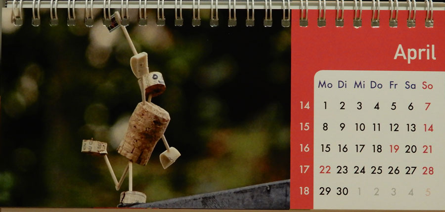 Korkmännchen Kalender 2019 April