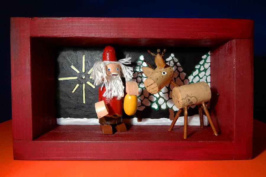 Rentier mit Nikolaus