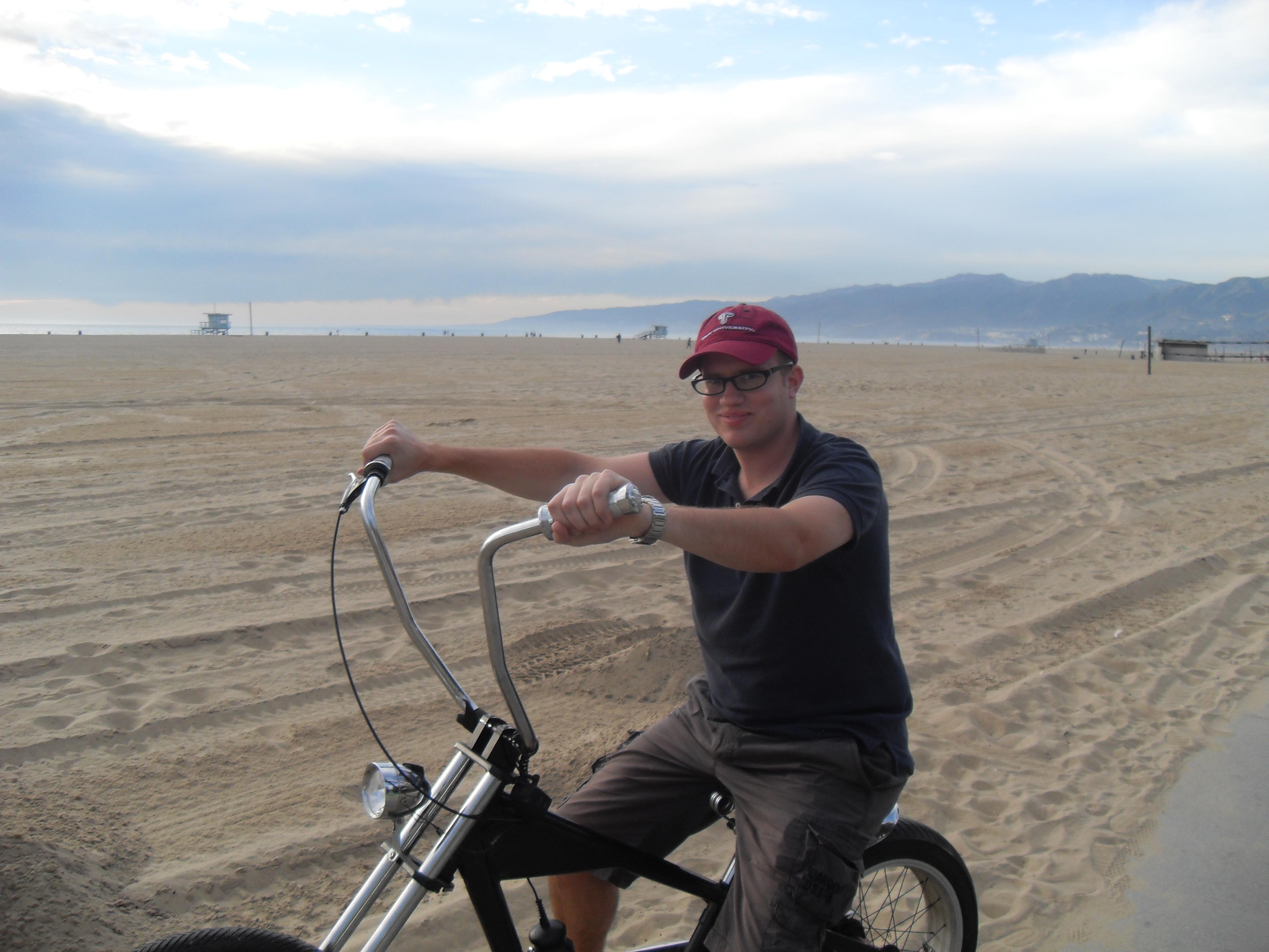 Biken in Santa Monica Beach