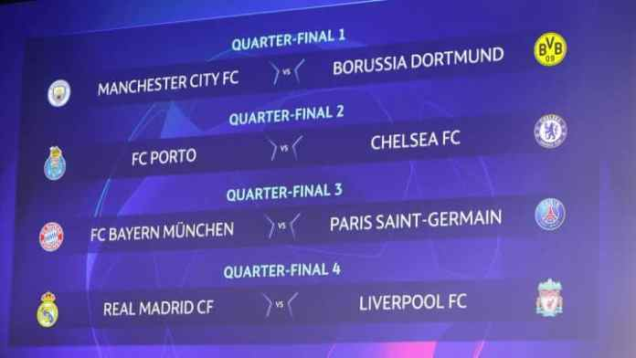 Parovi četvrtfinala Lige prvaka