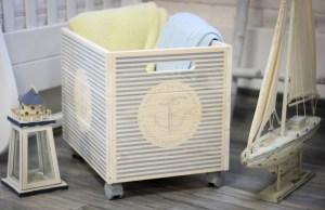 032 Декоративный ящик деревянный на колесах «Марсель» 40х30х30