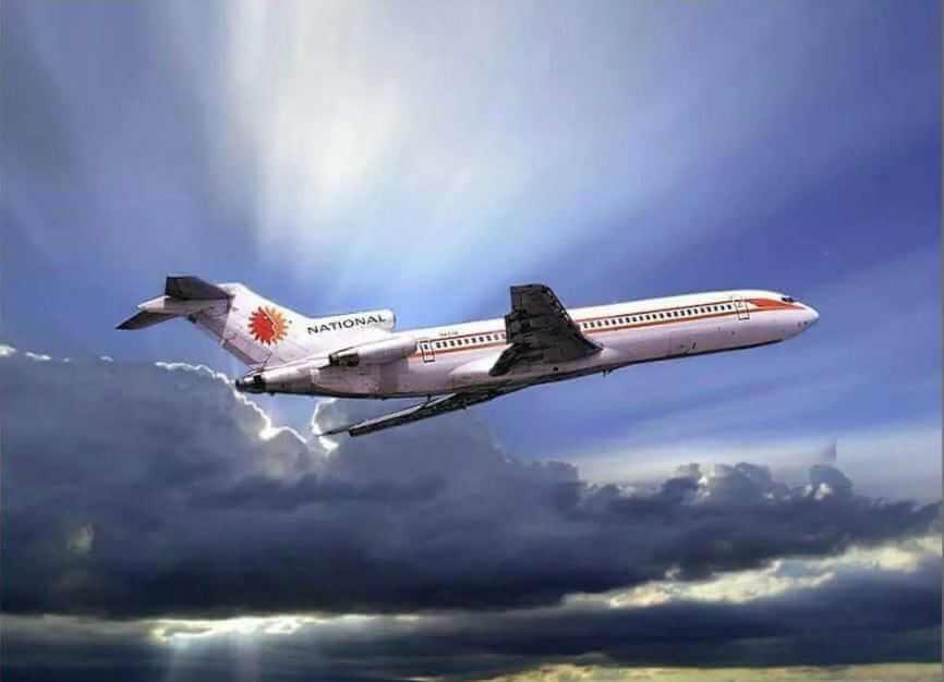 Пропавший и вернувшийся Боинг 727 National Airlines.