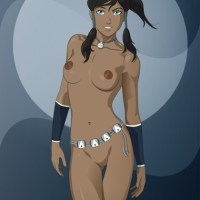 Great art of Korra posing naked for all fans!
