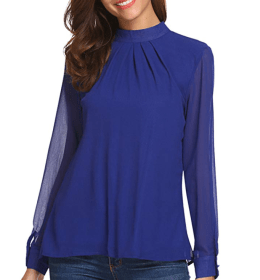 Screenshot_2019-12-13 SoTeer Long Sleeve Chiffon Blouse Women's Loose Casual Cuffed Sleeve Layered Tops at Amazon Women's C[...].png