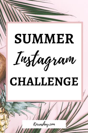 summer instagram challenge
