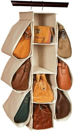organize your purses and closet with this purse organizer