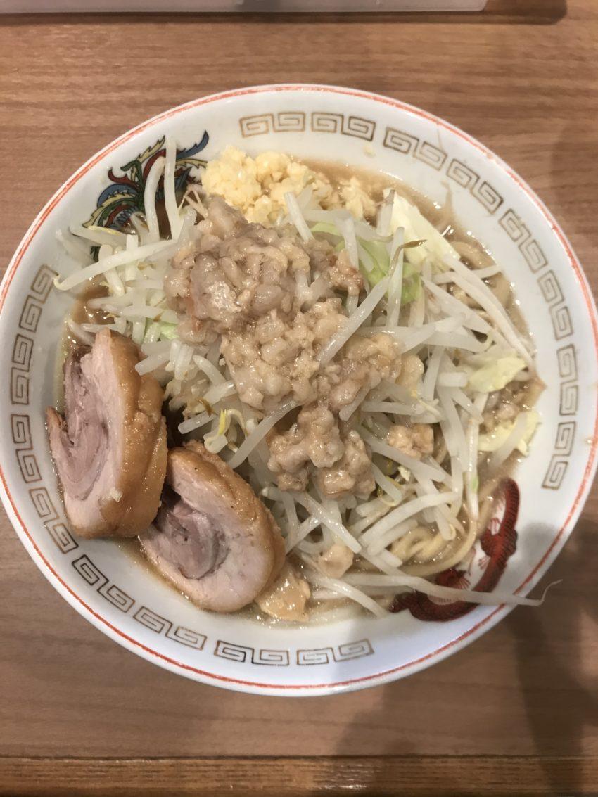 ラーメン豚山 上野店 - 小ラーメン ニンニクアブラ