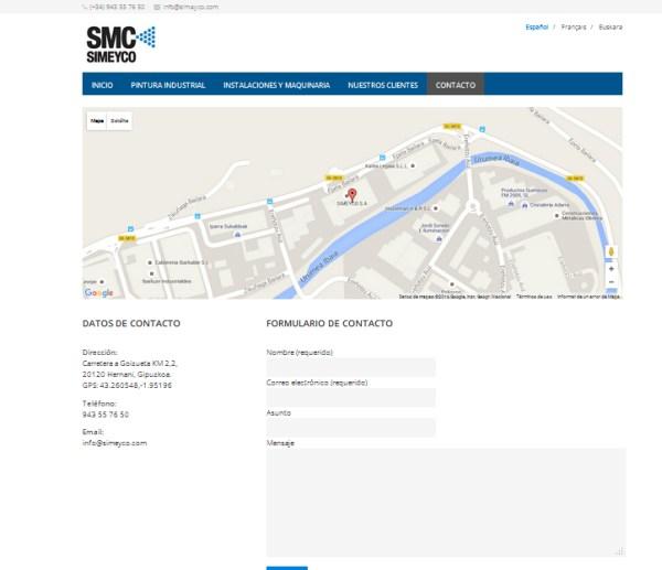 simeyco web recubrimientos metálicos de pintura industrial