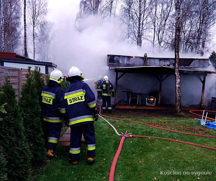 Pożar domku w Nowym Dębcu