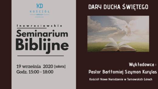 Zapraszamy na seminarium Biblijne